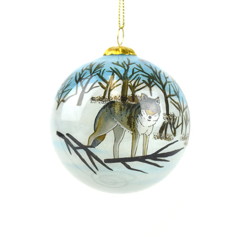 Montana Wolf Christmas Ornament by Art Studio Company at Montana Gift Corral