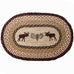 Moose Pinecone Oval Patch Rug by Capitol Earth Rugs
