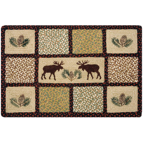 Moose and Pinecone Quilt Patch Rug by Capitol Earth Rugs