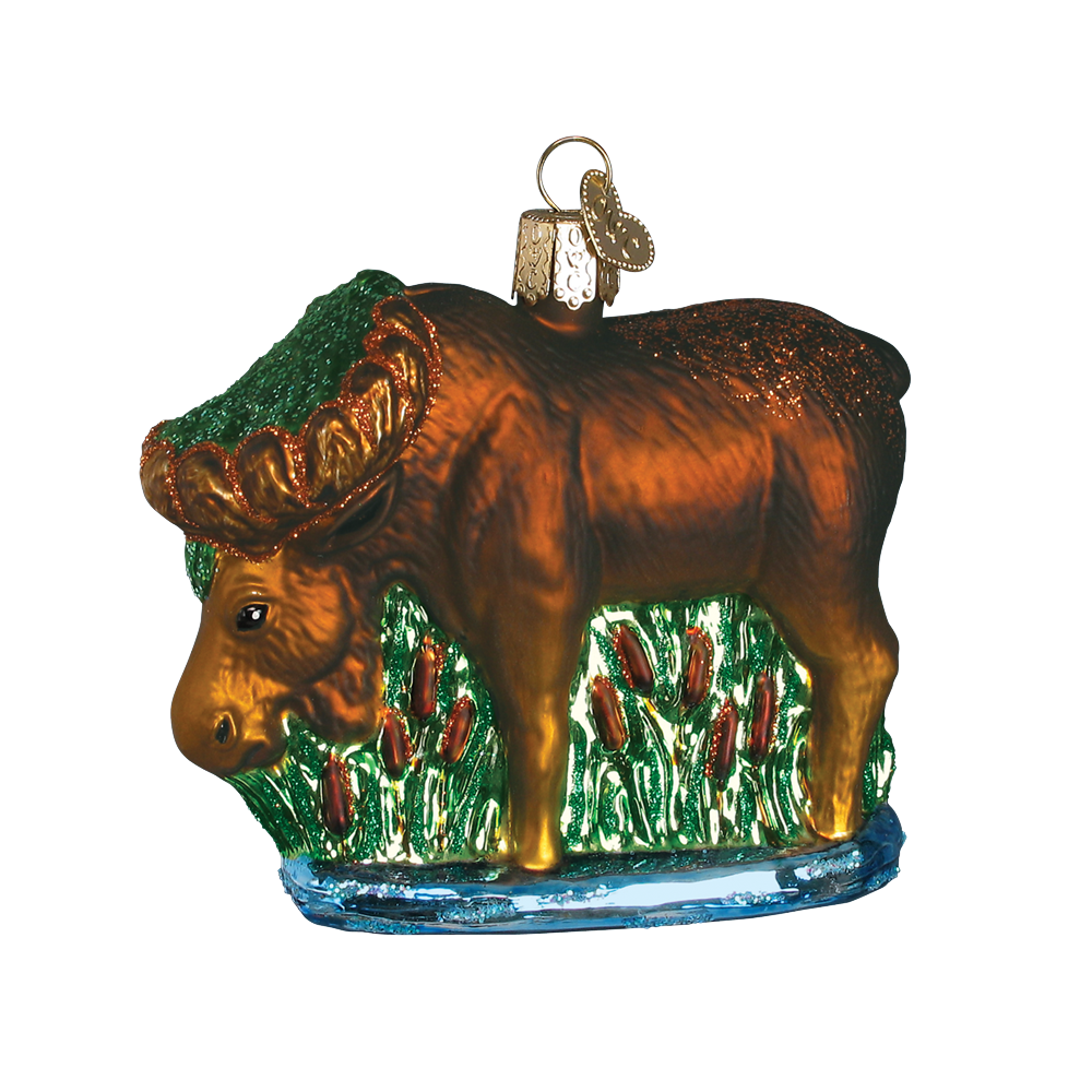 Munching Moose Ornament by Old World Christmas