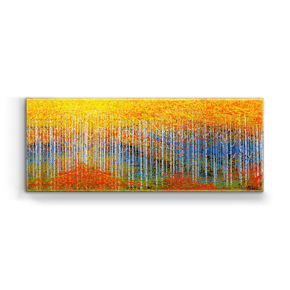 Nancy Seiler Colorful Aspen Trees Box Art by Meissenburg Designs at Montana Gift Corral