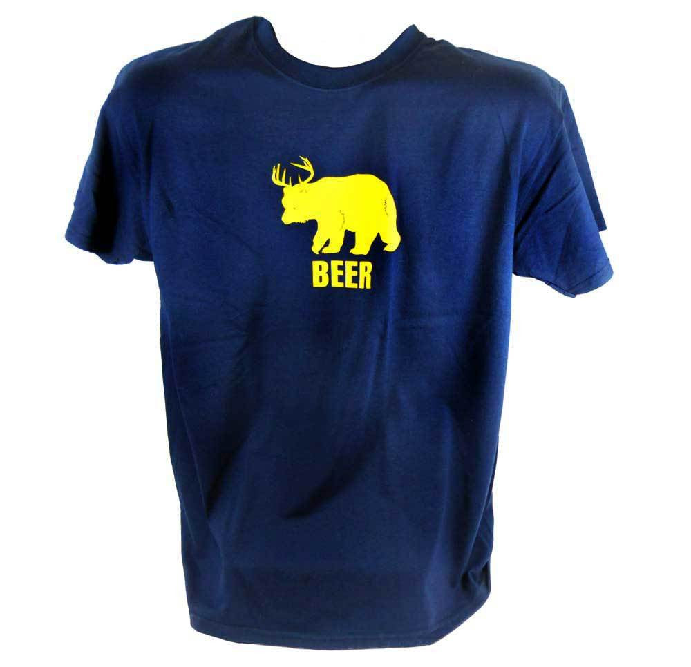 Navy Montana Beer T-Shirt
