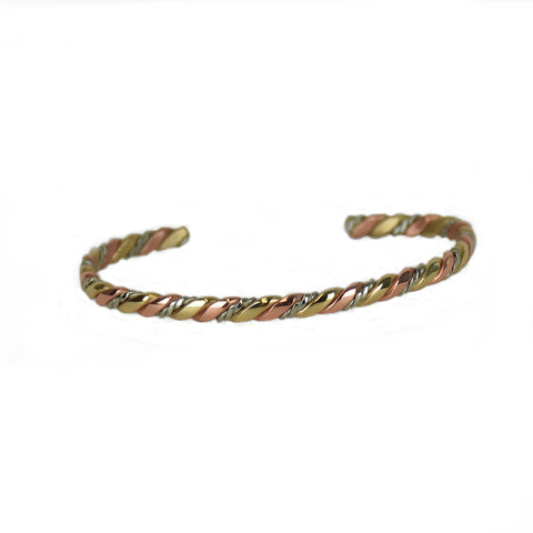 Nepalese Cord Mixed Metal Bracelet by Sergio Lub Jewelry
