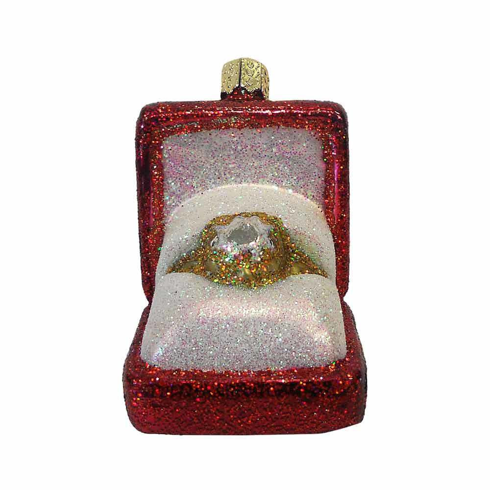 Old World Christmas Engagement Ring Ornament