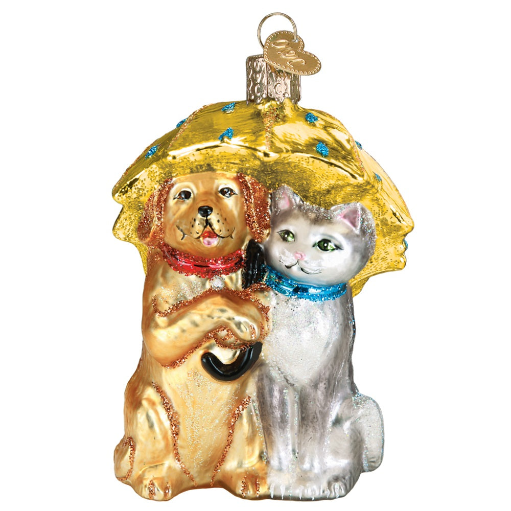 Raining Cats and Dogs Christmas Ornament by Old World Christmas at Montana Gift Corral