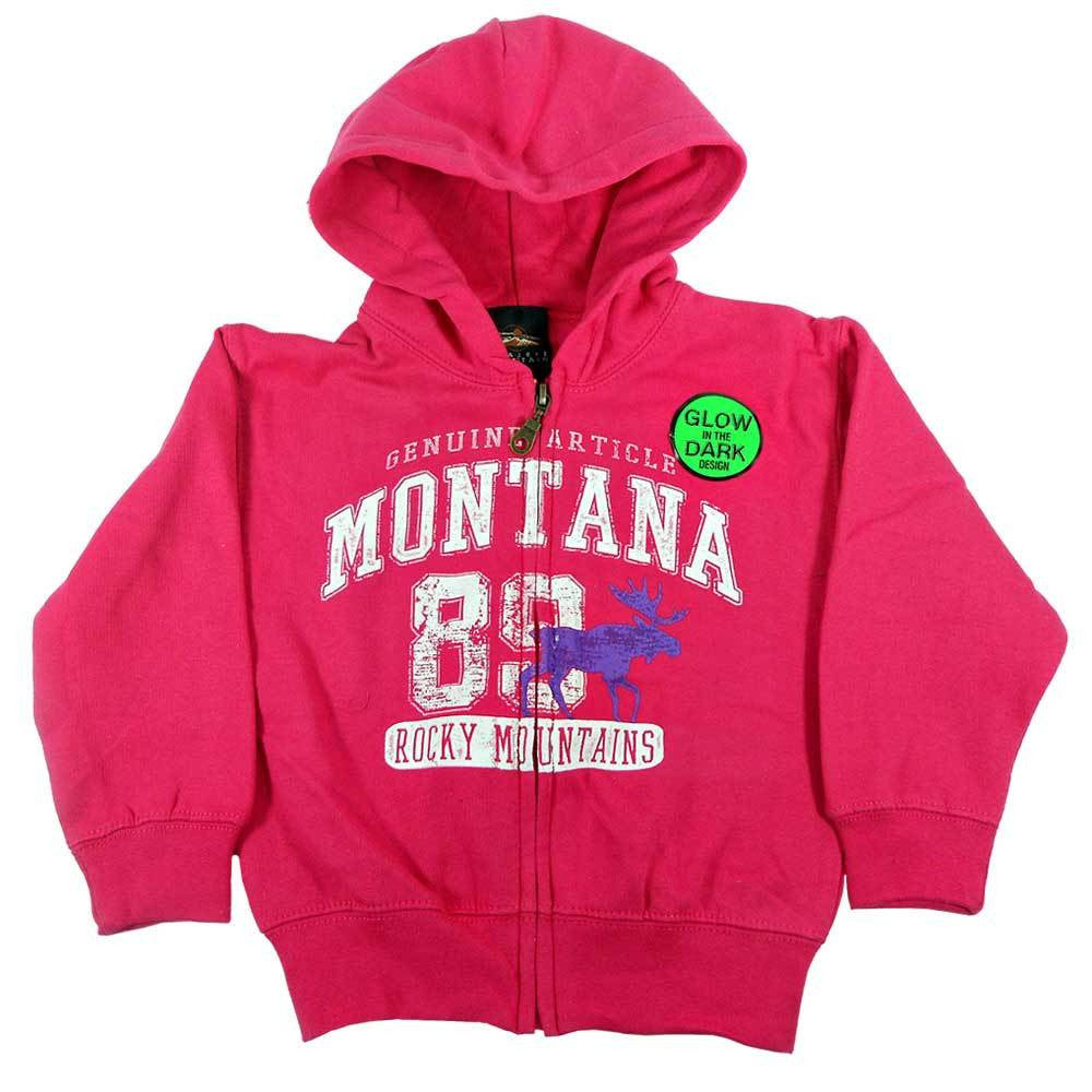 Raspberry Touchdown Moose Youth Montana Sweatshirt