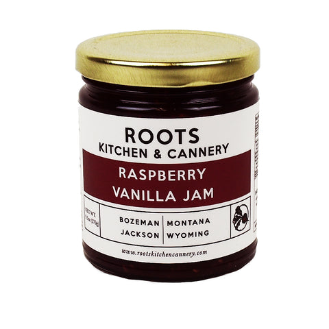 Raspberry Vanilla Jam by Roots Cannery and Kitchen
