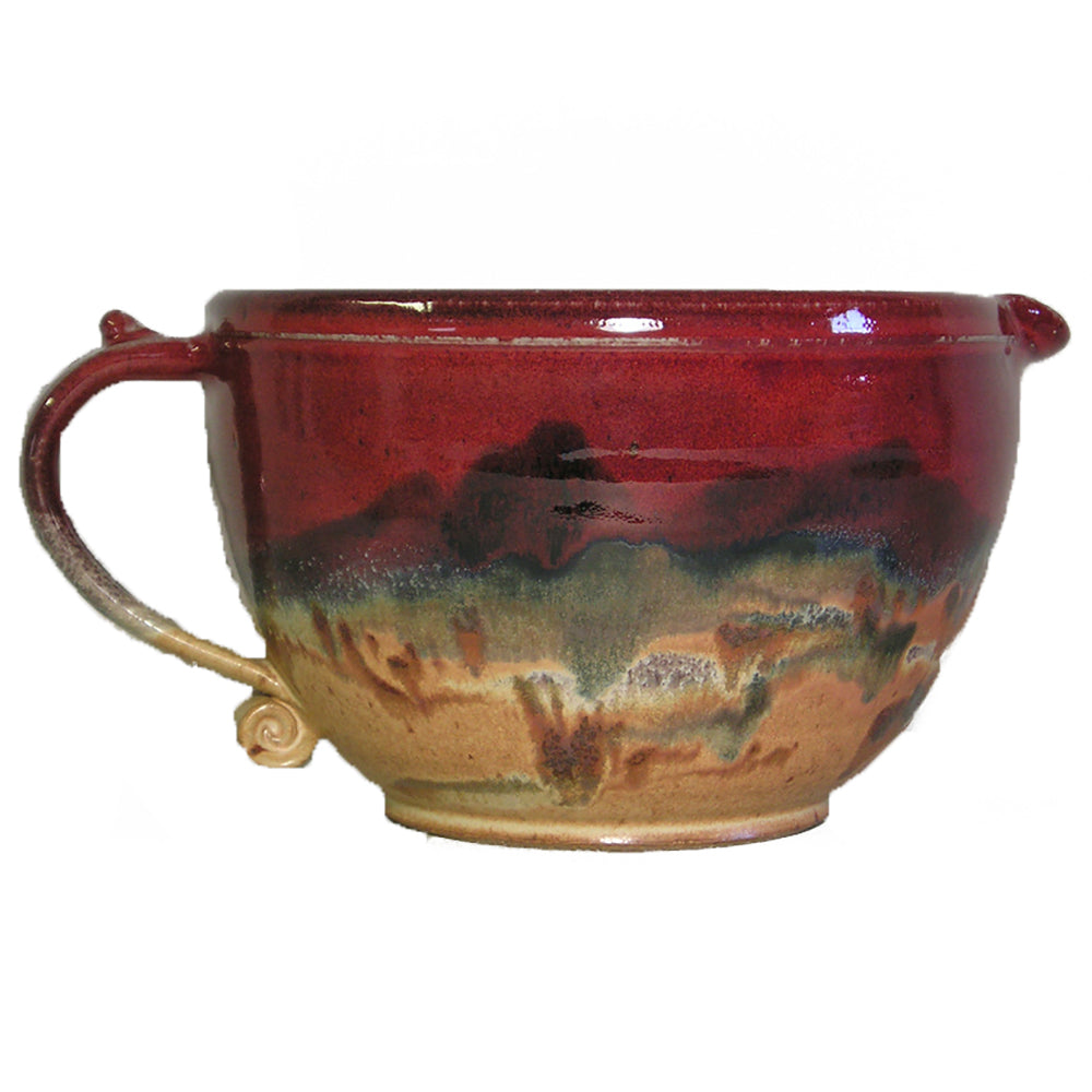 Red Skies Mixing Bowl by Fire Hole Pottery