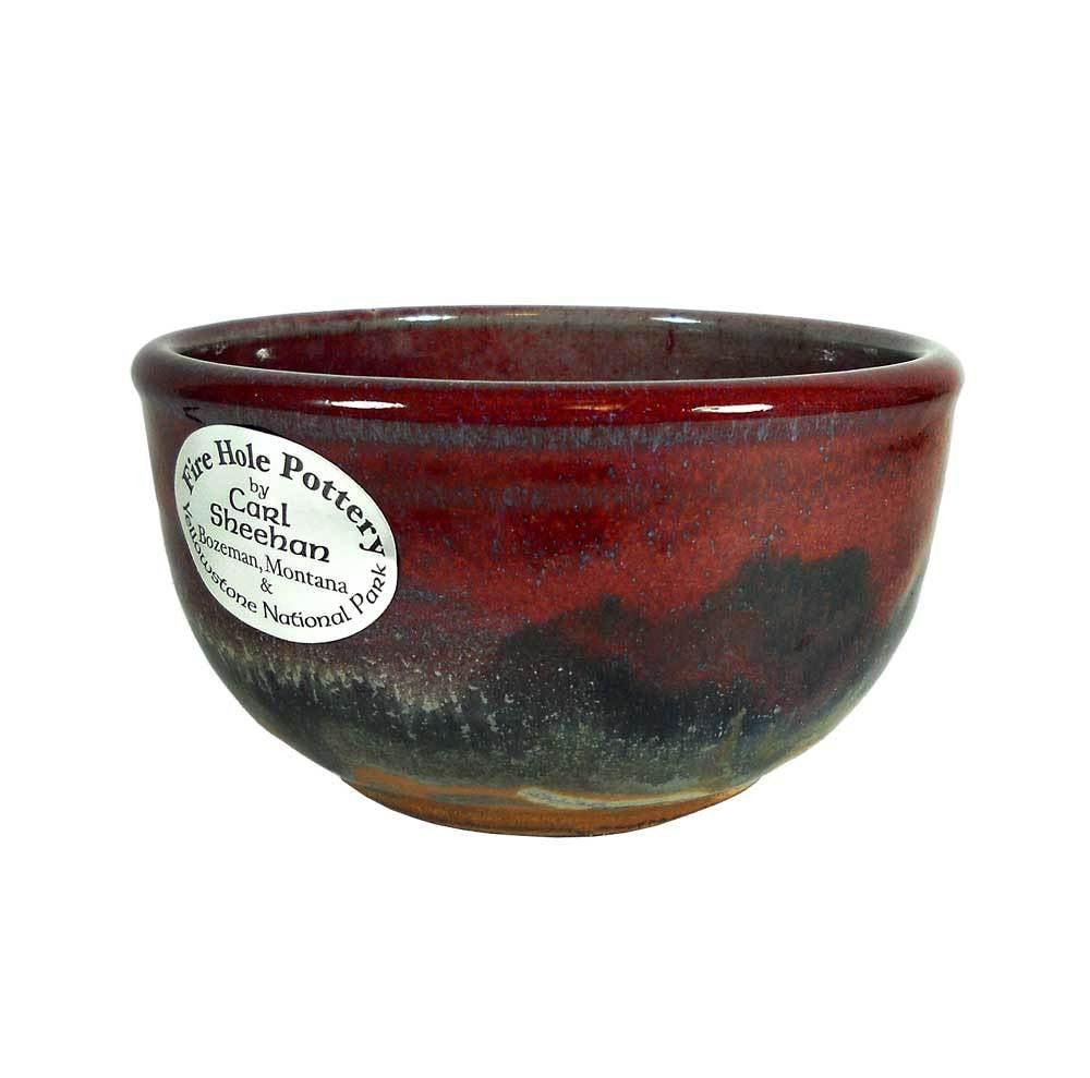 Red Skies Salsa Bowl by Fire Hole Pottery