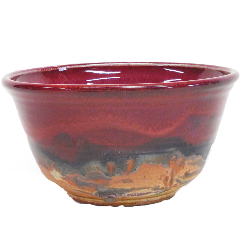 Red Skies Serving Bowl by Fire Hole Pottery