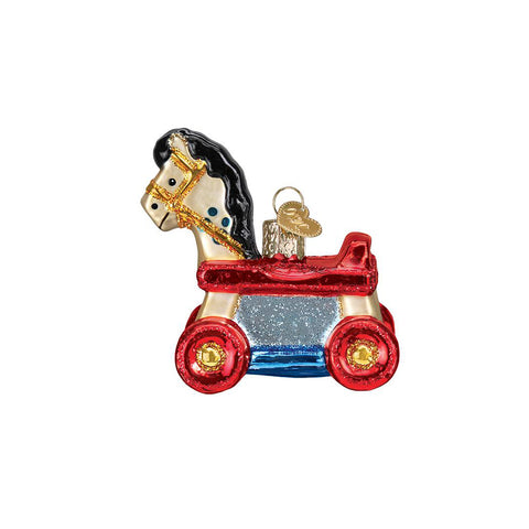 Rolling Horse Toy Ornament by Old World Christmas (73912)