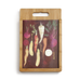 Roots & Vegetables Wood and Glass Cutting Board Set by Demdaco