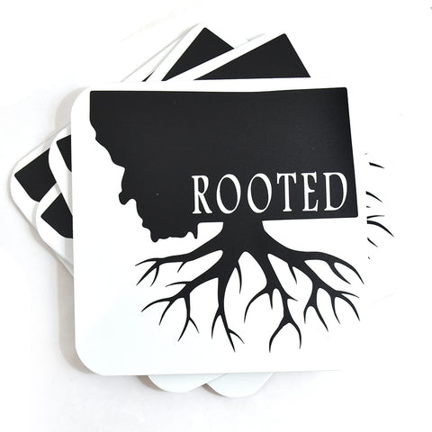 Rooted Montana Coasters by Signs of the Mountains at Montana Gift Corral