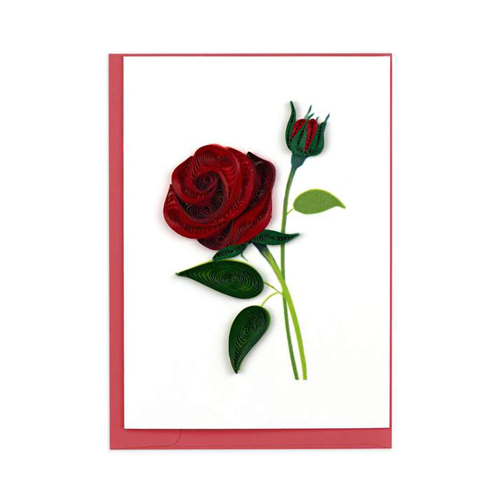 Roses symbolize love and romance, and what shows love better than a rose that blooms forever? The Rose Gift Enclosure Card by Quilling Card shows both the beauty of nature and the art of quilling all in this little card!