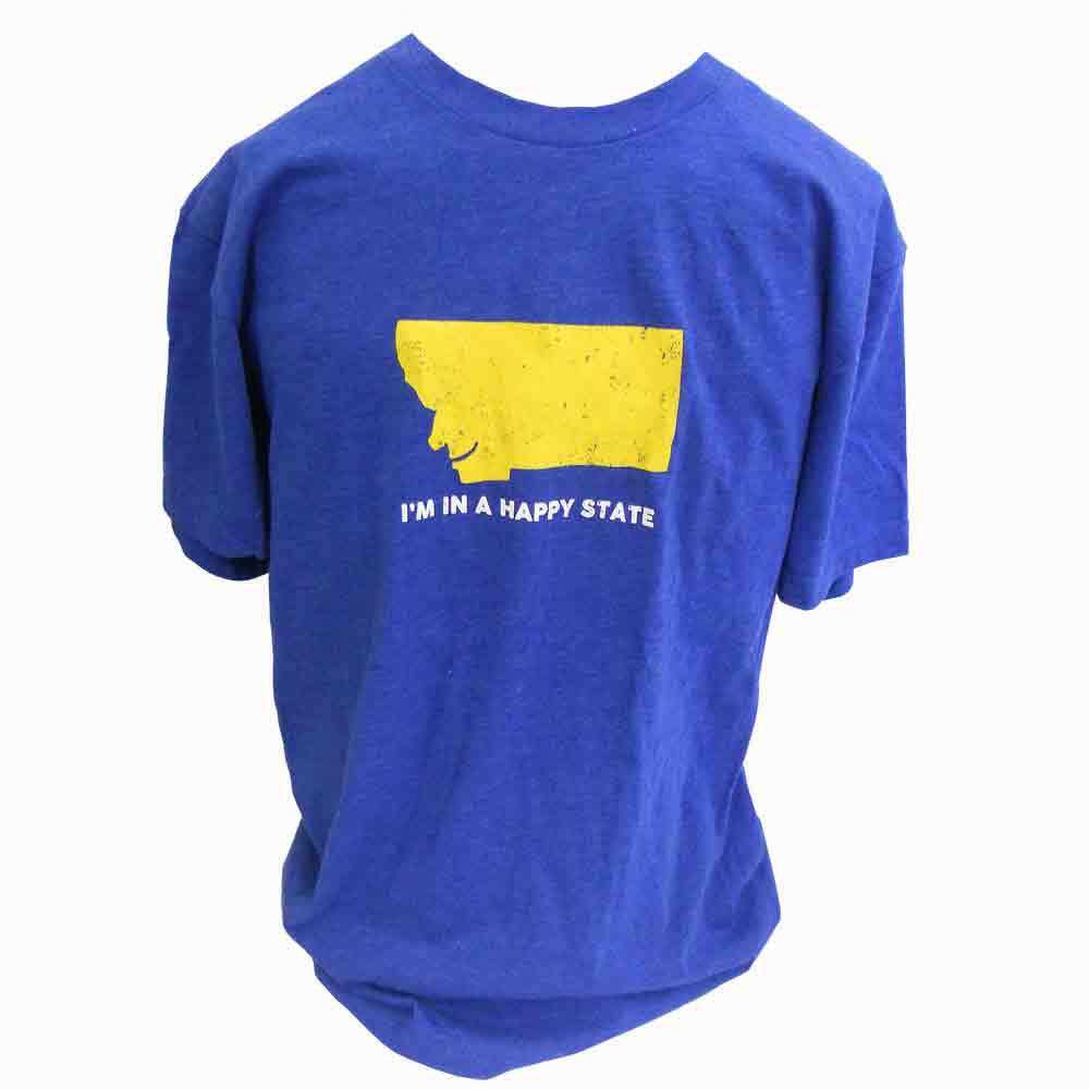 Royal Blue Happy State Montana T-Shirt