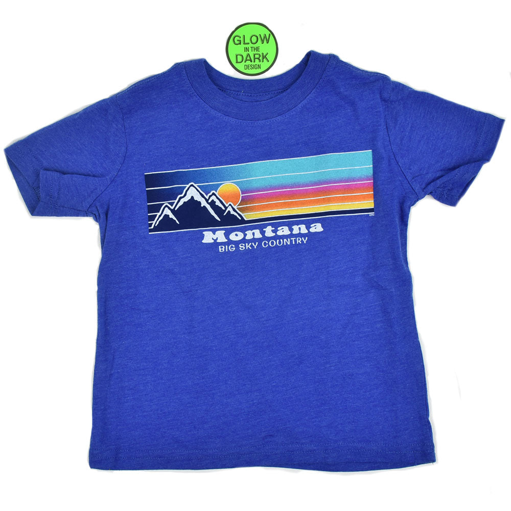 Royal Heather Snow Cone Mountain Youth T-Shirt by Prairie Mountain