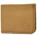 Saddle Tan 4 Pocket Bi-Fold Bison Leather Wallet With Coin Pocket by The Leather Store