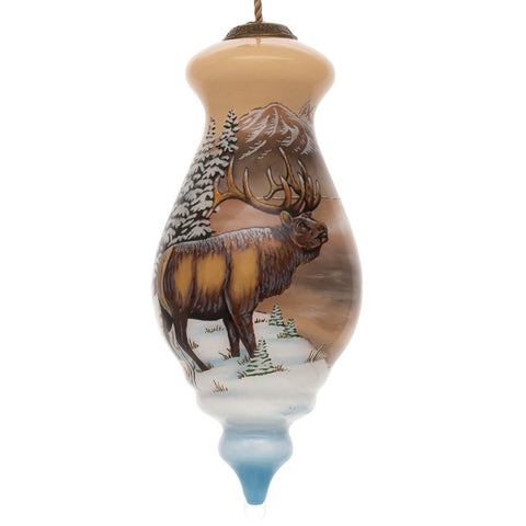 Elk Cabin Christmas Ornament by Sam Timm from Inner Beauty