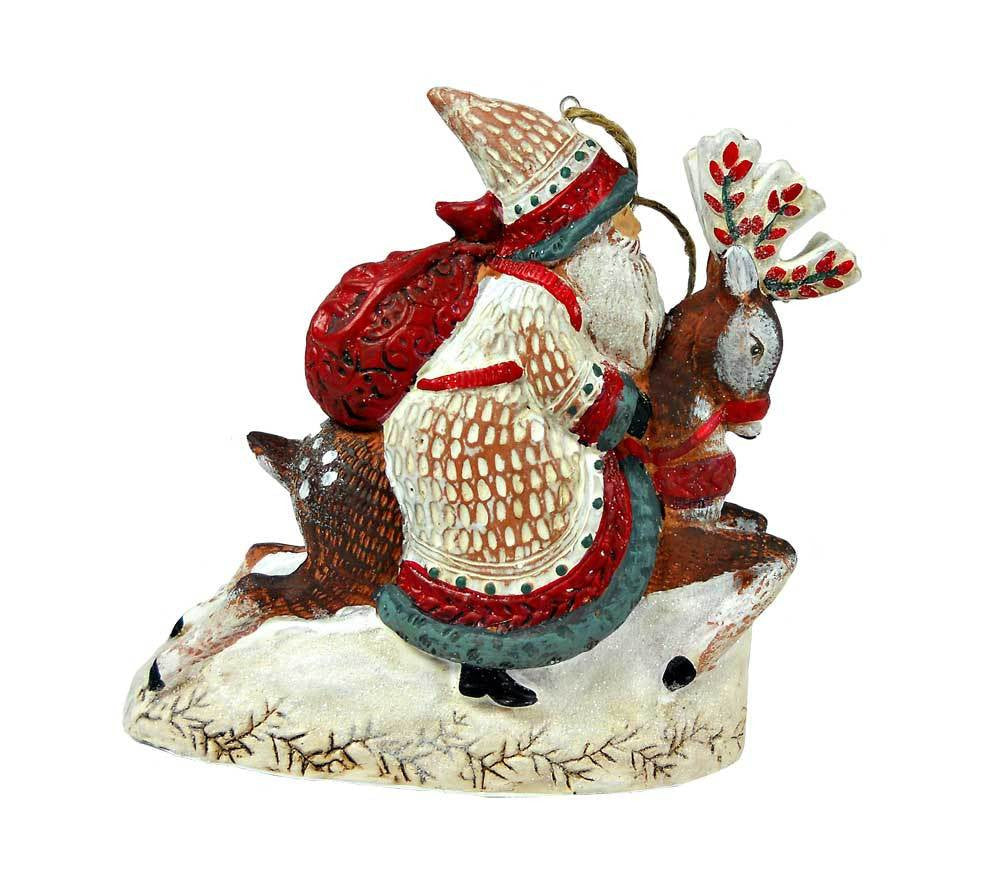 Santa On His Way Ornament