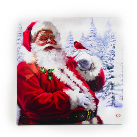 "Santa 20"" LED Print by Oak Street Wholesale"