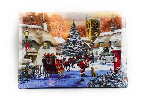 "Santa's Village 24"" LED Print by Oak Street Wholesale"