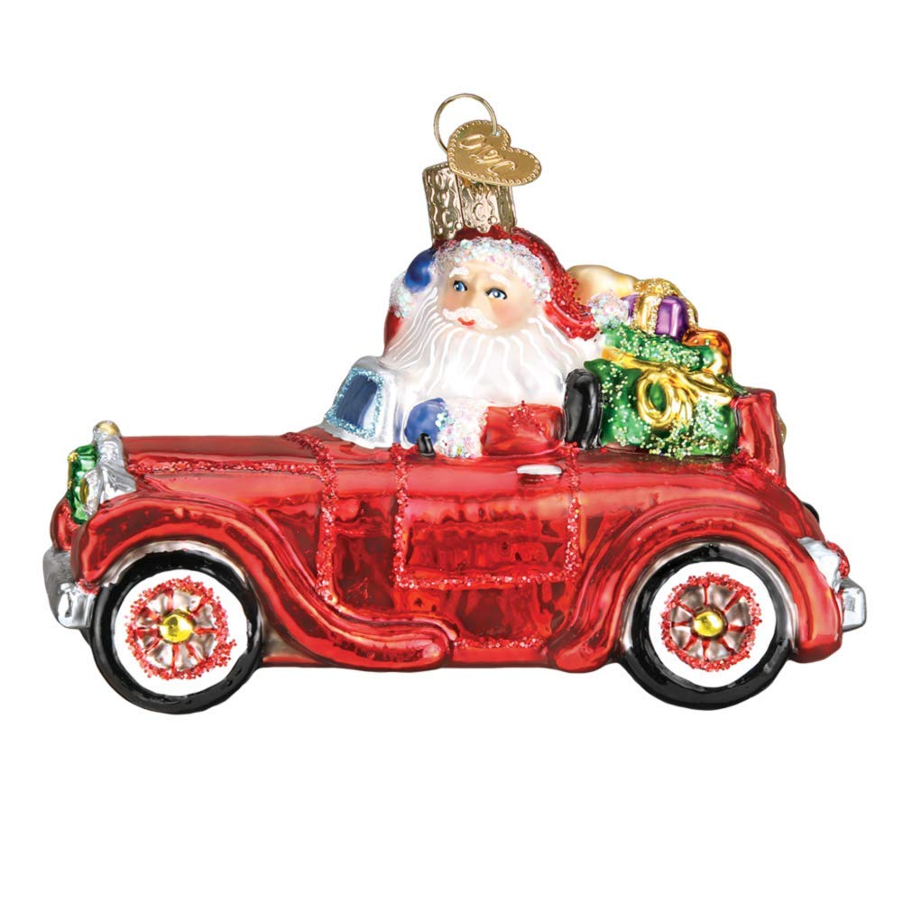 Santa in Antique Car Ornament by Old World Christmas