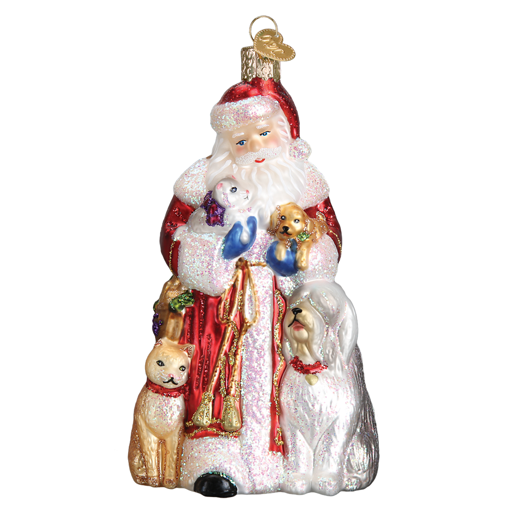Santa's Furry Friends Ornament by Old World Christmas