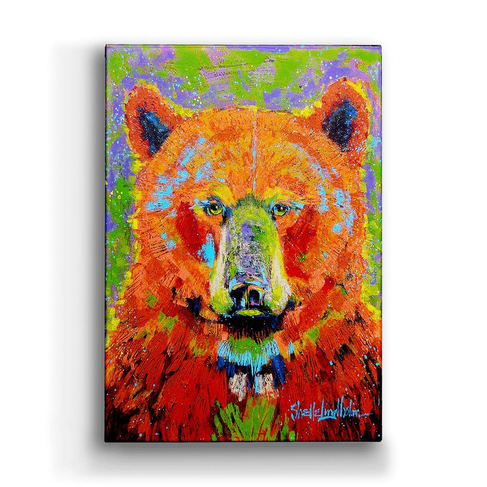 Shelle Lindholm Blaze Bear Metal Box Wall Art by Meissenburg Designs