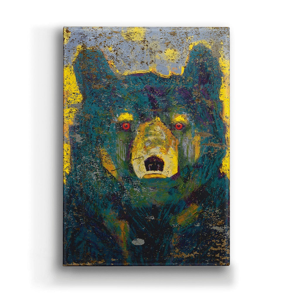Shelle Lindholm Firefly Black Bear Metal Box Art by Meissenburg Designs