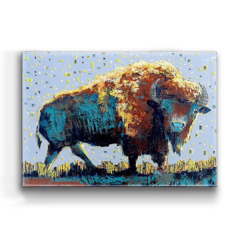 Shelle Lindholm Midnight Buffalo Boxed Wall Art by Meissenburg Designs