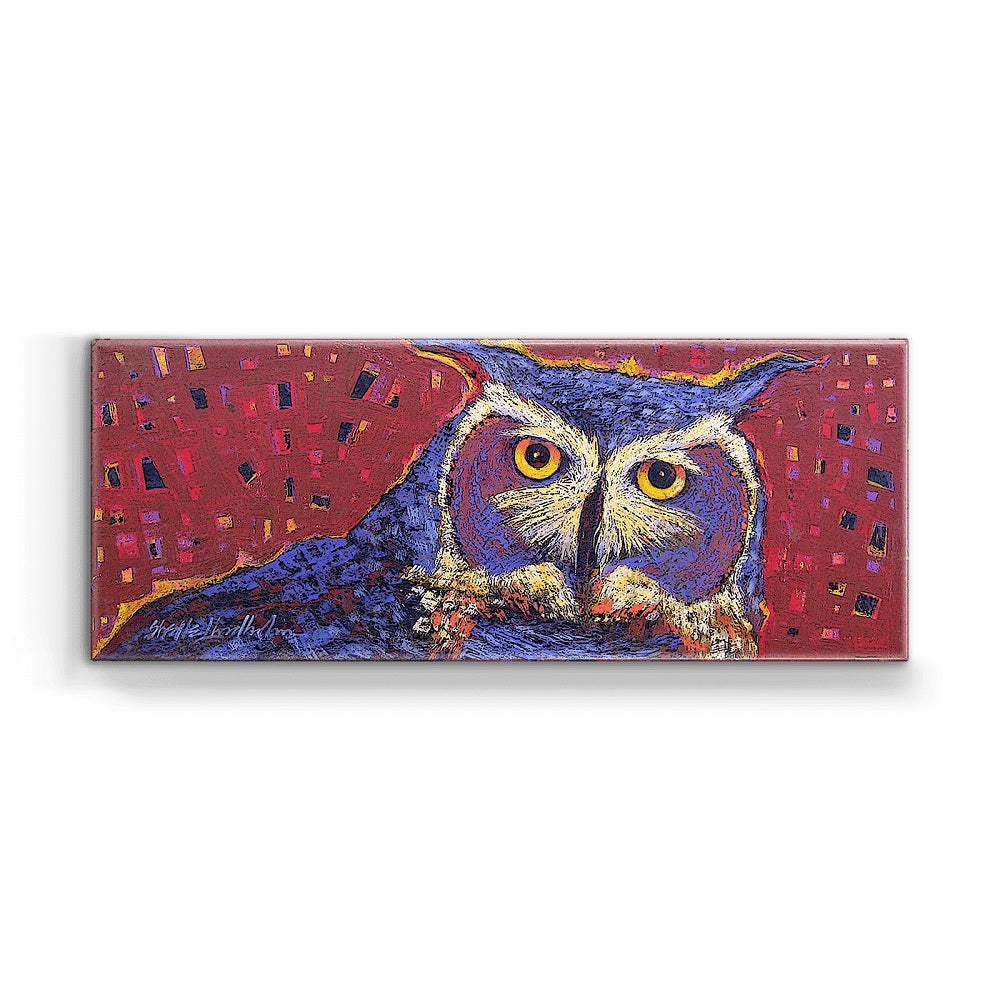 Shelle Lindholm Old Sage Owl Metal Box Wall Art by Meissenburg Designs