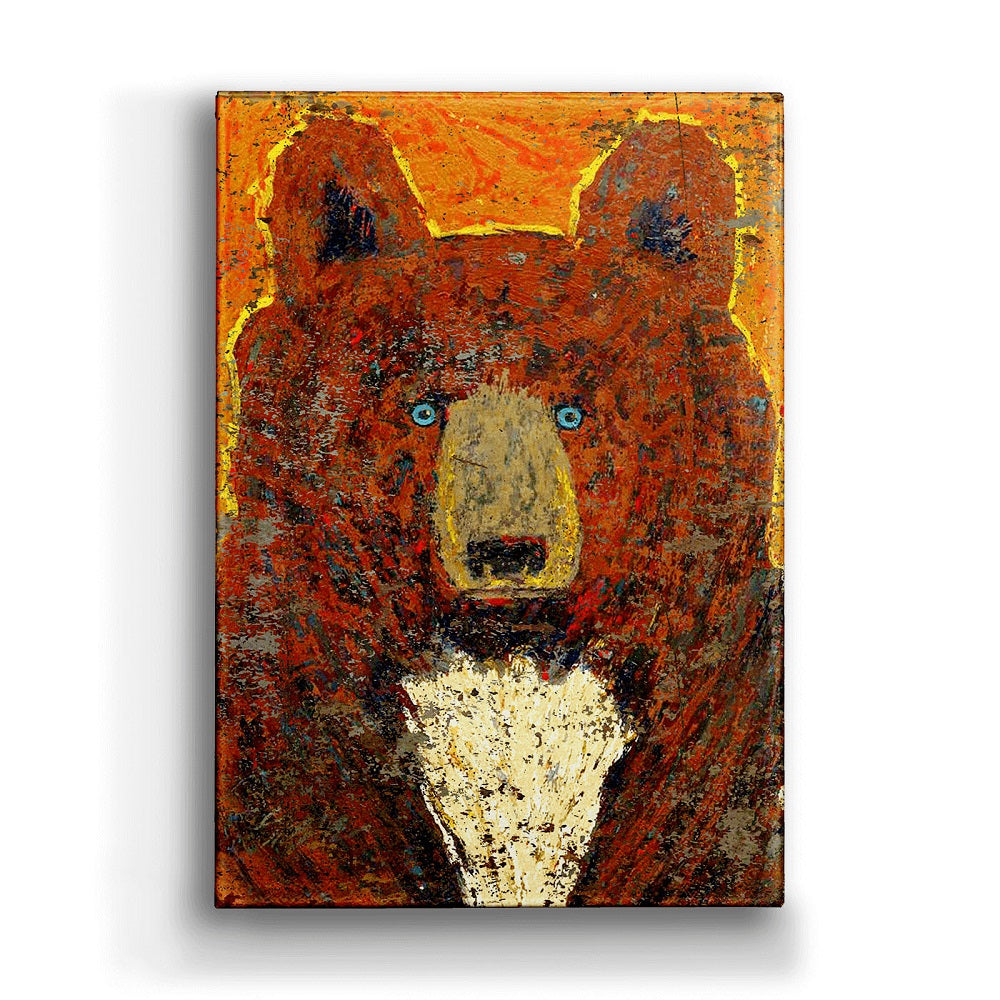 Shelle Lindholm Scout Brown Bear Metal Box Wall Art by Meissenburg Designs