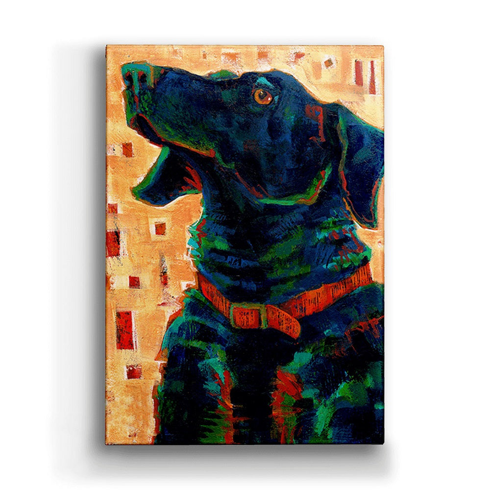 Shelle Lindholm True Blue Black Lab Metal Box Art from Meissenburg Designs