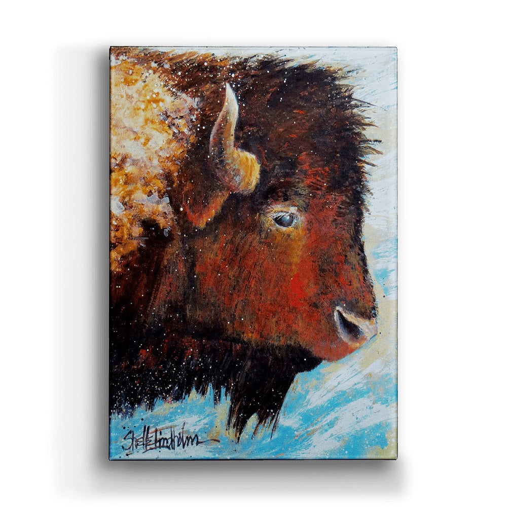 Shelle Lindholm Windswept Buffalo Metal Box Art from Meissenburg Designs at Montana Gift Corral