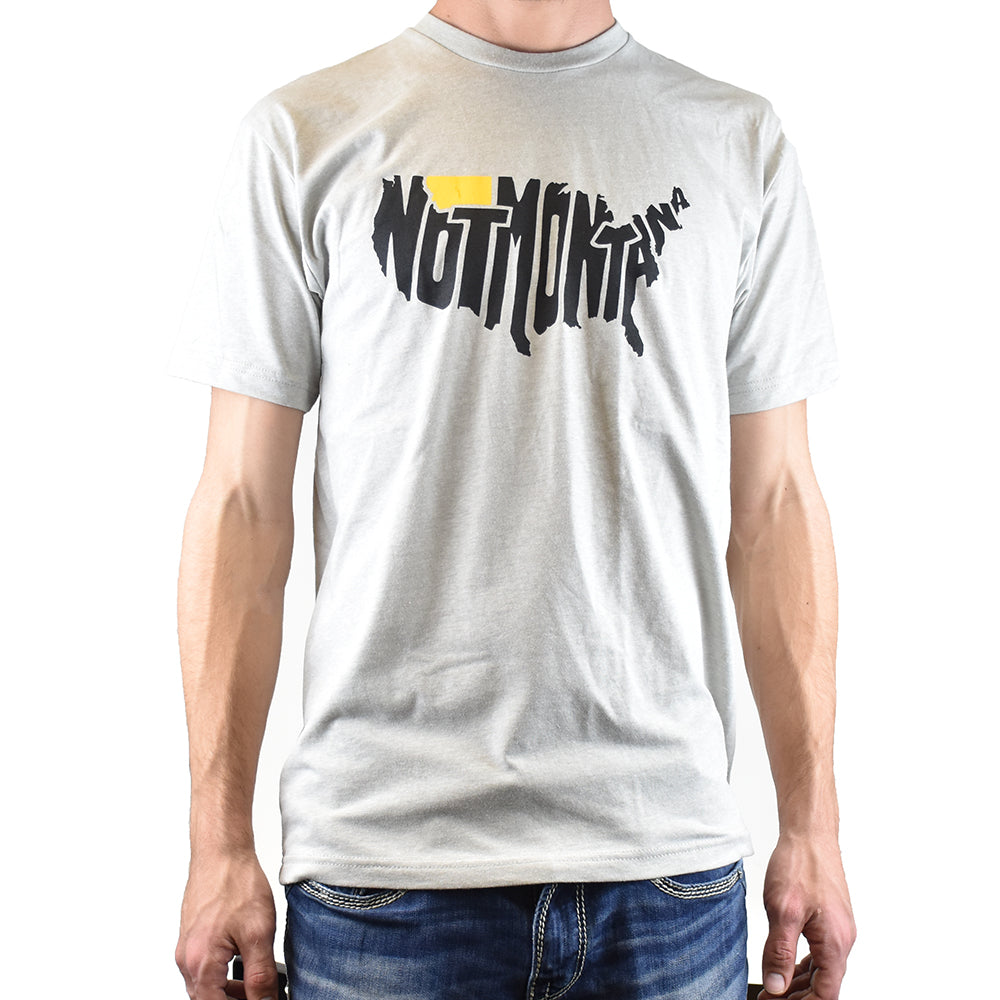 Silver Not Montana Montana T-Shirt by Fat Graphics at Montana Gift Corral