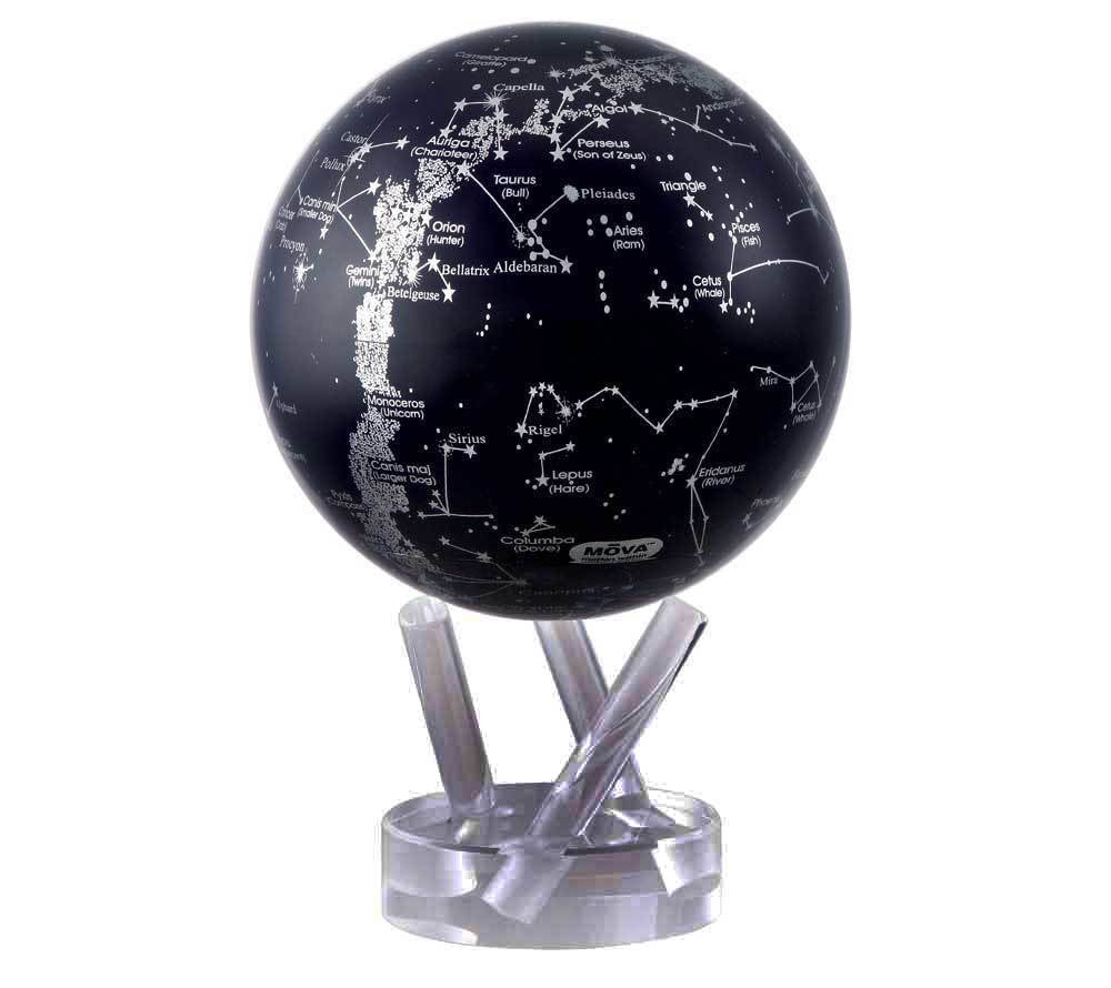 Silver and Navy Blue Constellations MOVA Globe