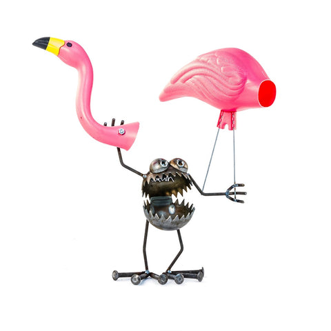 Gnome Be Gone Mini Flamingo Go Away by Fred Conlon