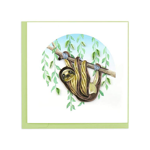 We could all learn something from sloths! Take it easy and relax! The Sloth Greeting Card by Quilling Card is the perfect card for any powerhouse in your life!