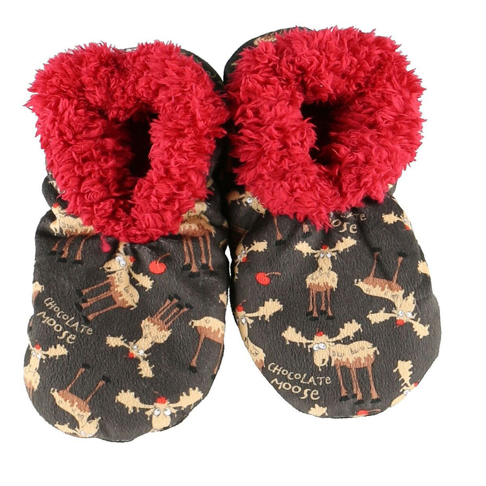 Chocolate Moose Fuzzy Feet by Lazy One