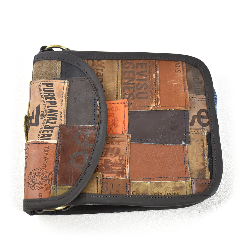 Small Jean Label Cross Body Bag by Art Studio Company