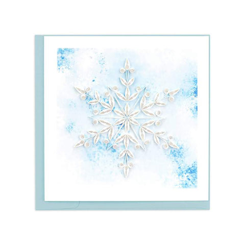 Snowflake Greeting Card by Quilling Card