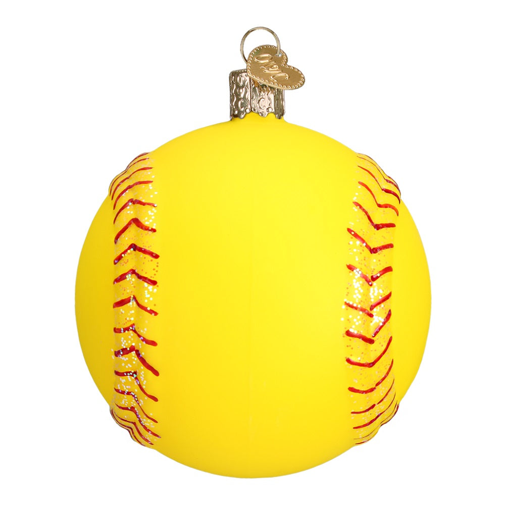 Softball Christmas Ornament by Old Wold Christmas at Montana Gift Corral
