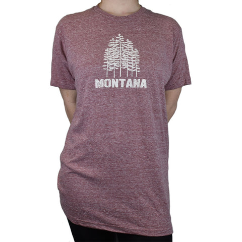 Southwestern Heather Wine Lush Trees T-Shirt by Prairie Mountain