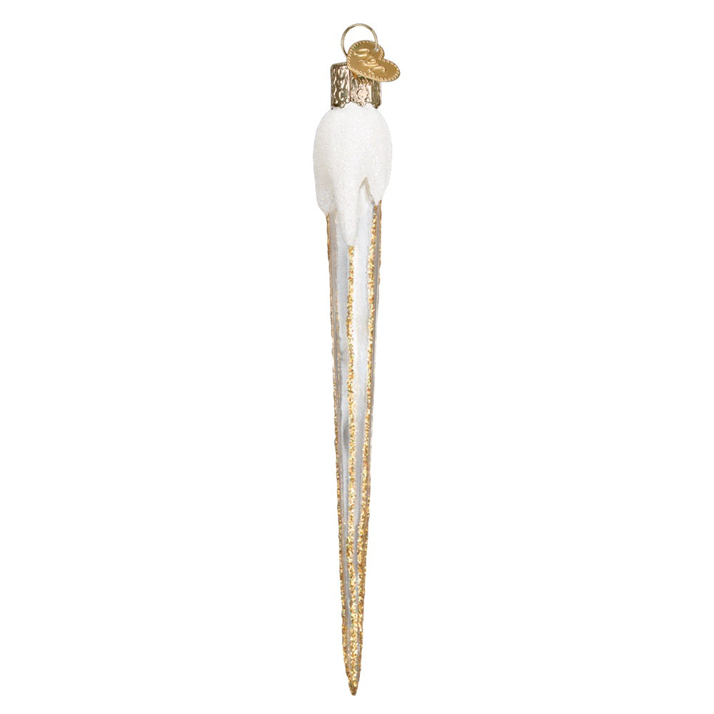 Gold Sparkling Icicle Ornament by Old World Christmas at Montana Gift Corral