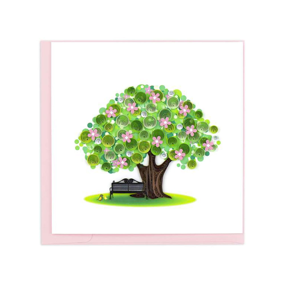 Spring Tree Greeting Card by Quilling Card