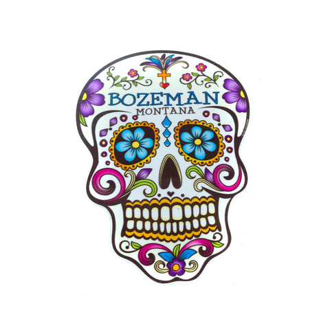 Bozeman Sugar Skull Sticker by TGT