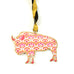 Summer Farmhouse Buffalo Assorted Pattern Metal Christmas Ornament by Art Studio Company