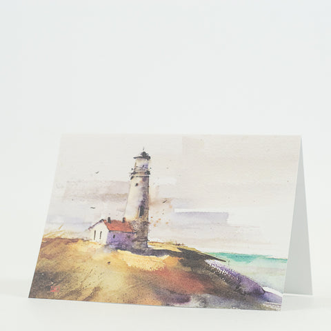 Summer Lighthouse Scenic Watercolor Greeting Cards by Dean Crouser at Montana Gift Corral