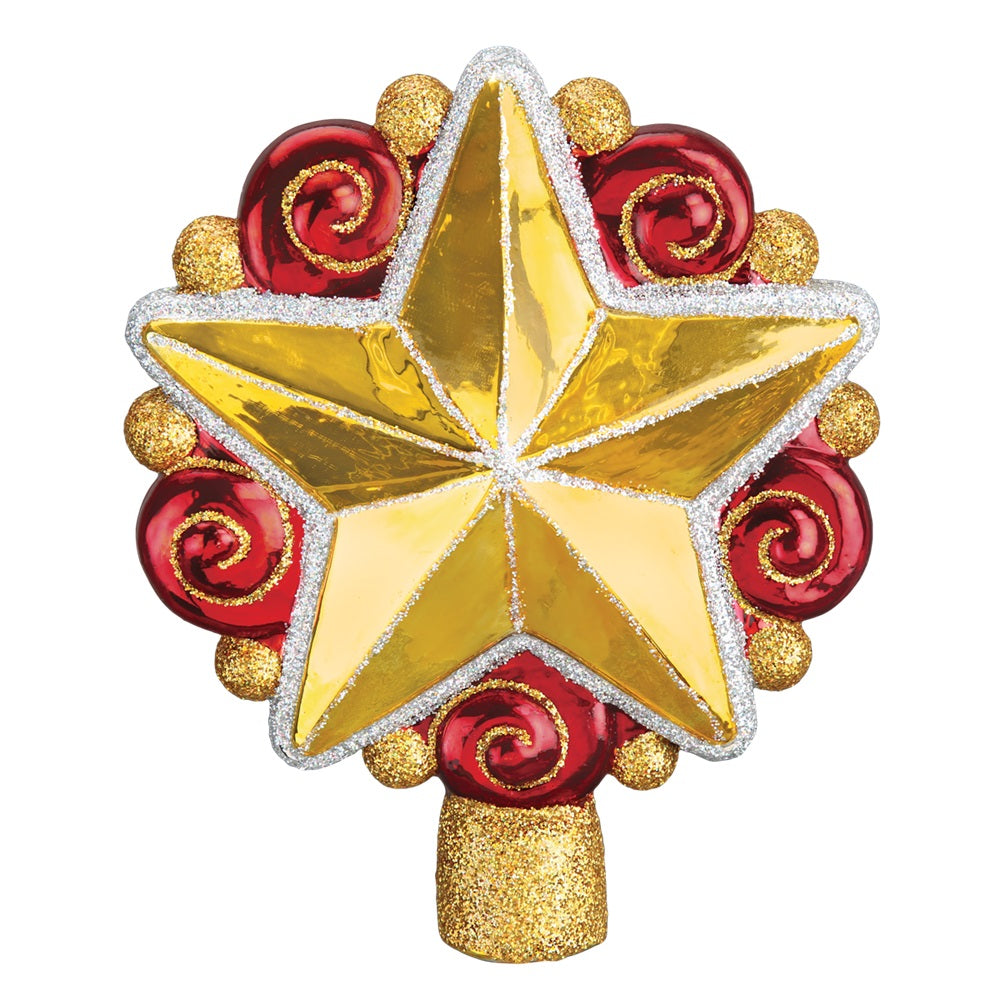 Swirly Star Tree Topper by Old World Christmas at Montana Gift Corral