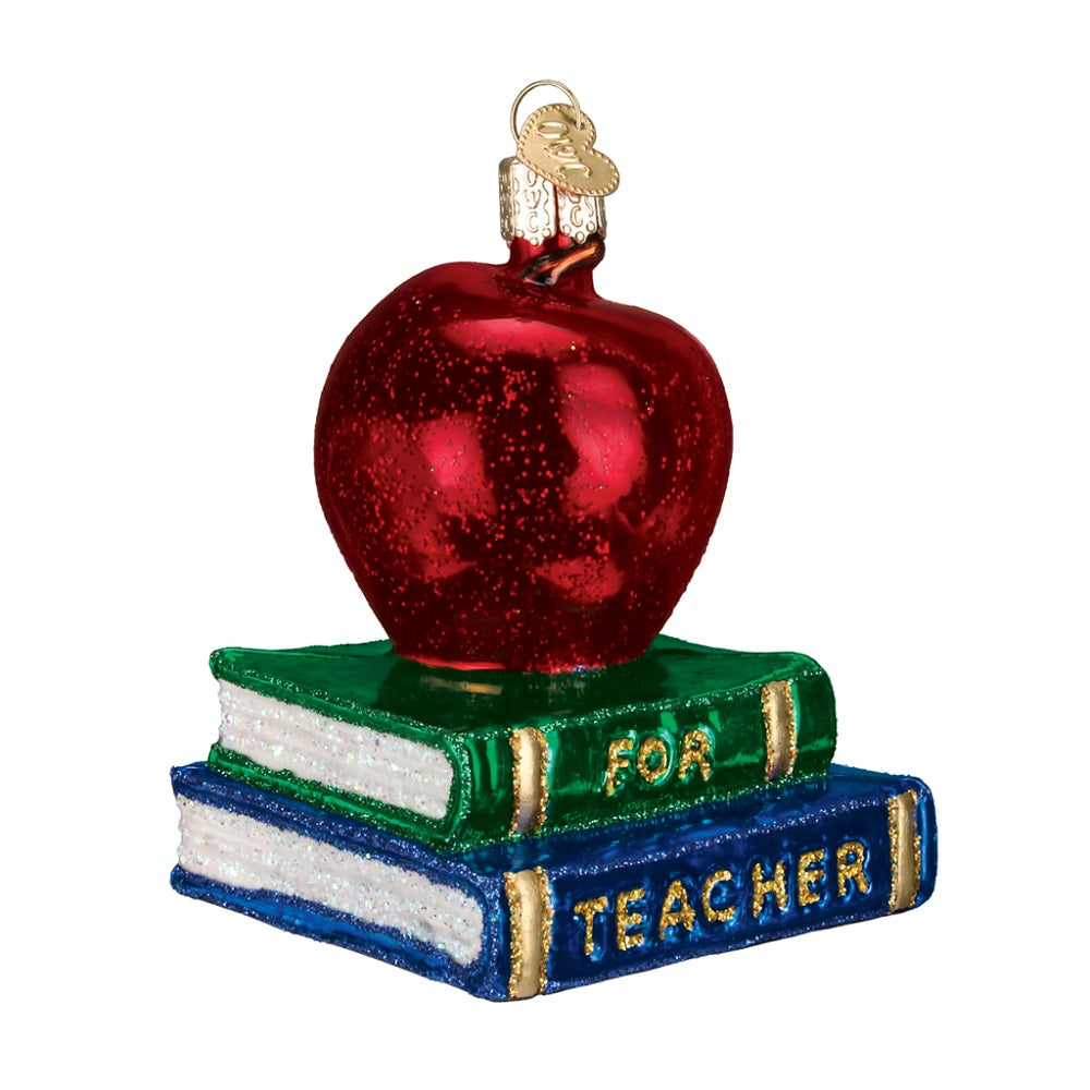 Teachers Apple Christmas Ornament by Old World Christmas at Montana Gift Corral